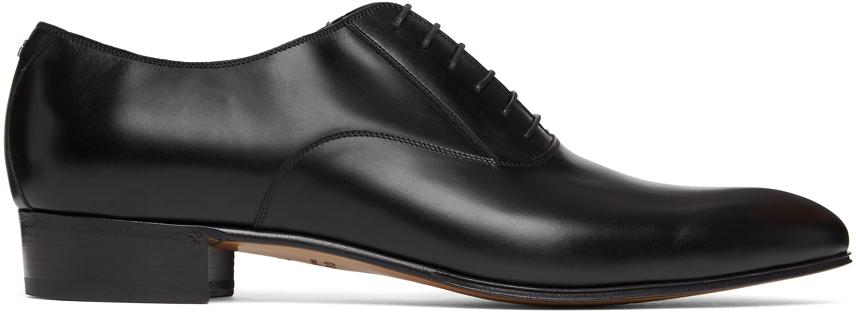 Gucci 黑色 Double G 牛津鞋