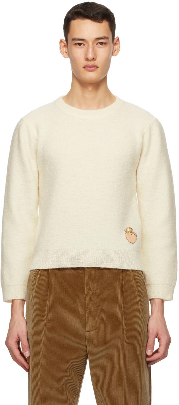 Gucci 灰白色 Crop 羊毛毛衣