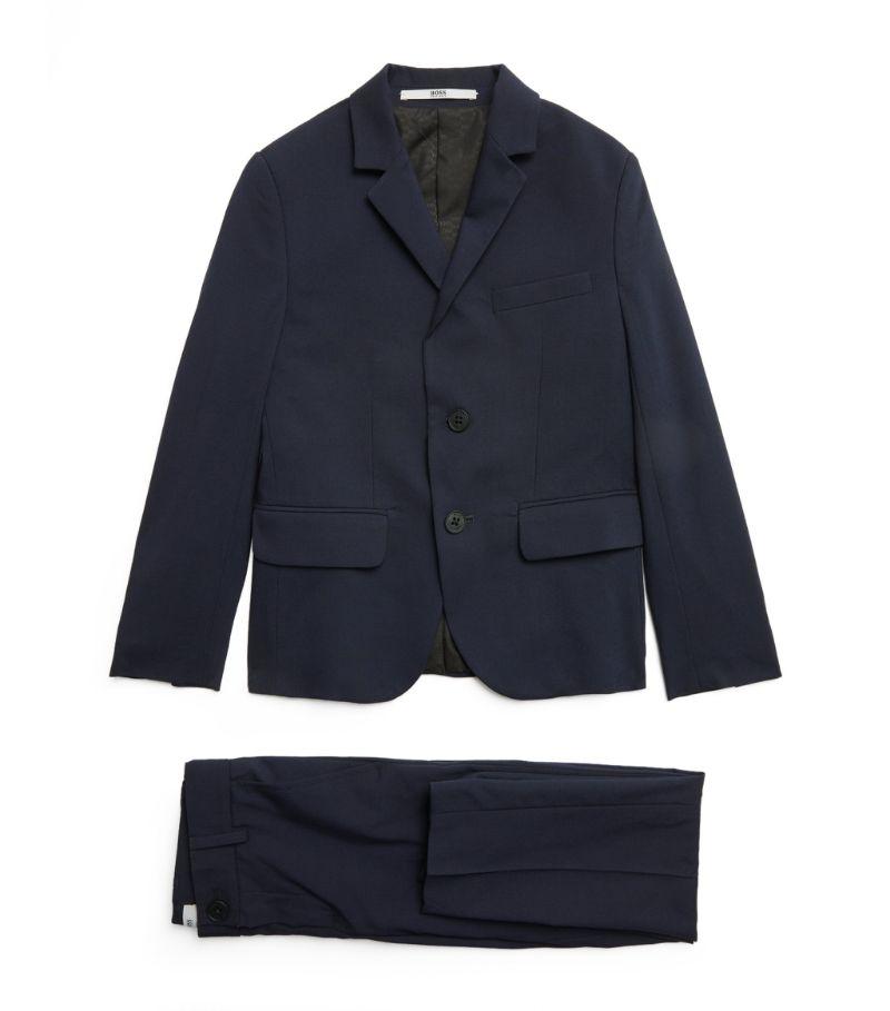 Boss Kidswear Cotton Slim Suit (6-16 Years)