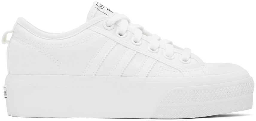 adidas Originals 白色 Nizza 运动鞋