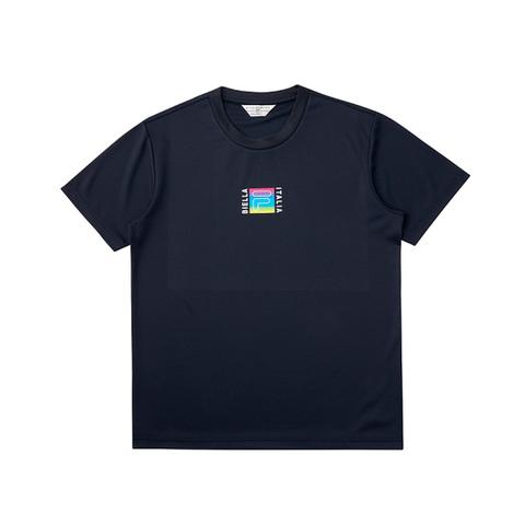 FILA 吸濕排汗短袖圓領T恤-丈青 1TEV-1466-NV