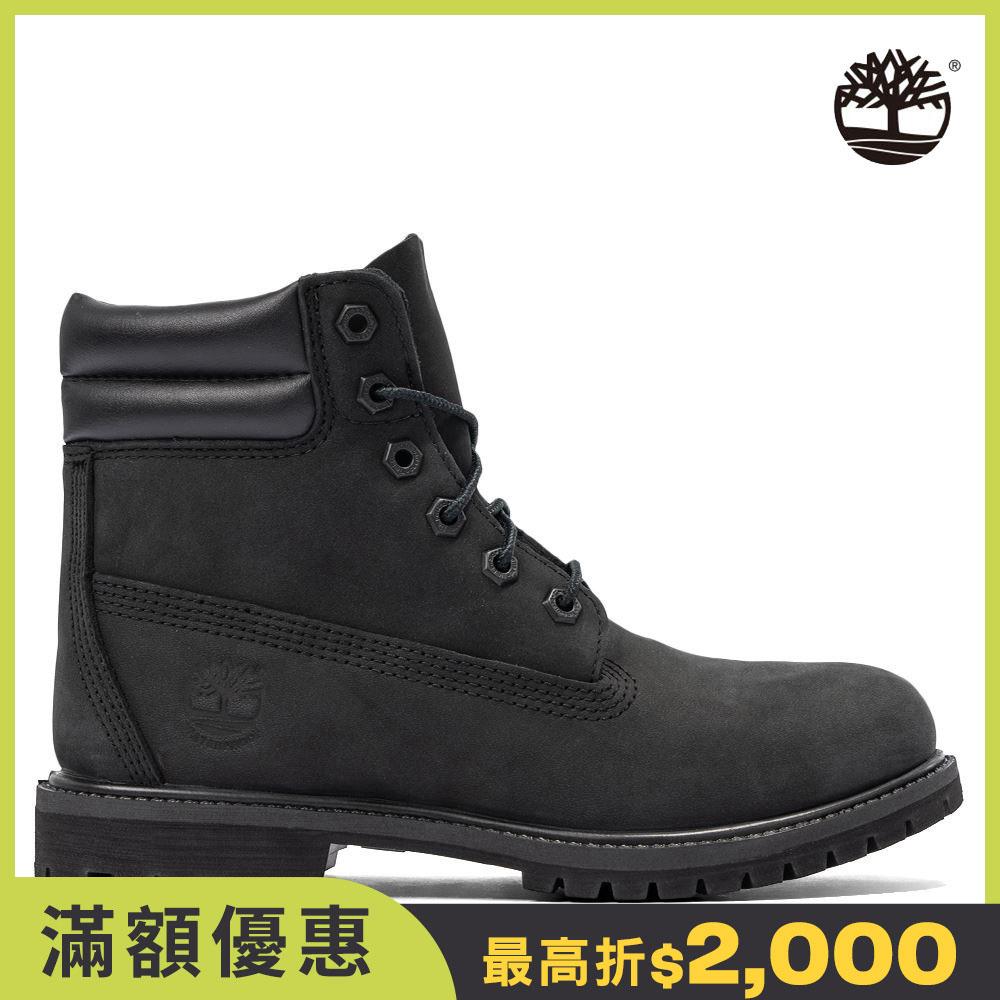 Timberland 女款黑色磨砂革經典防水6吋靴|A15QY001