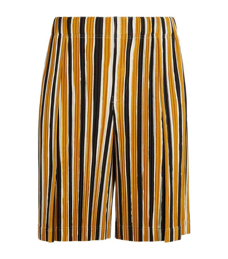 Homme Plissé Issey Miyake Striped Plissé Shorts