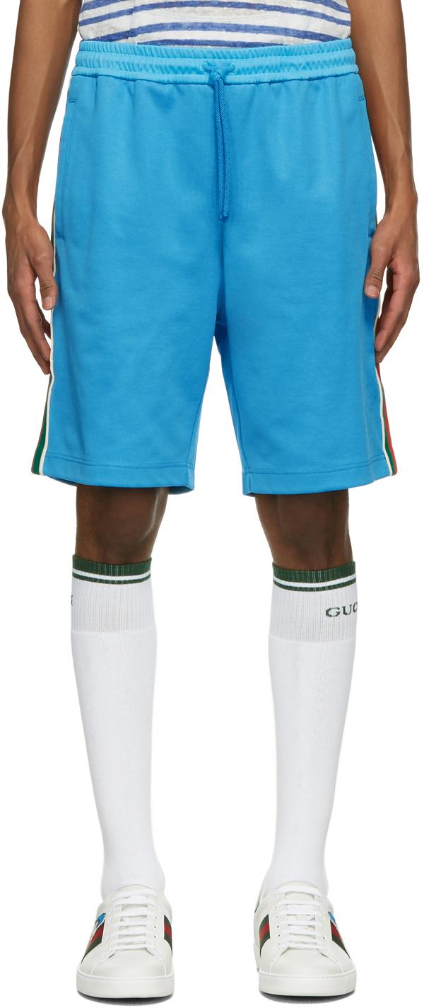 Gucci 蓝色机能短裤