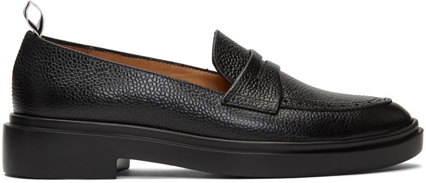 Thom Browne 黑色 Penny 轻量橡胶底乐福鞋