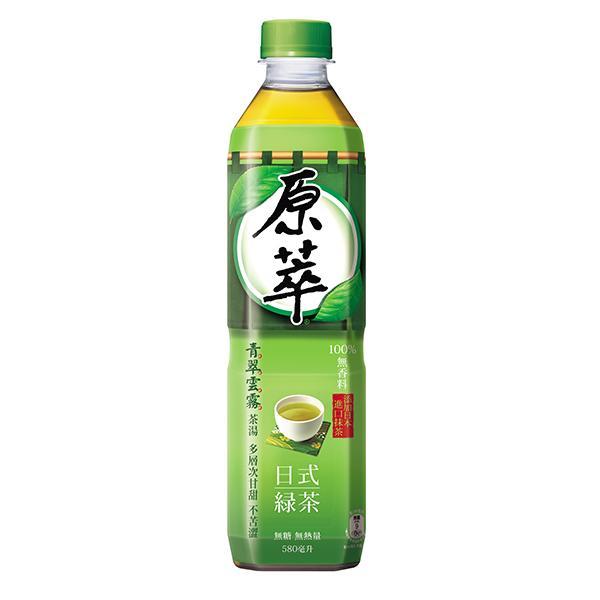 點數15%★食品飲料滿千–原萃日式綠茶580ml*團購*24入 【康是美】