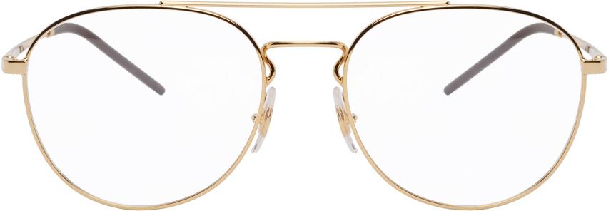 Ray-Ban 金色飞行员眼镜