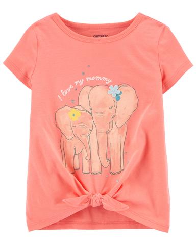 Carter's 愛媽媽的小象短袖上衣(2T-5T)