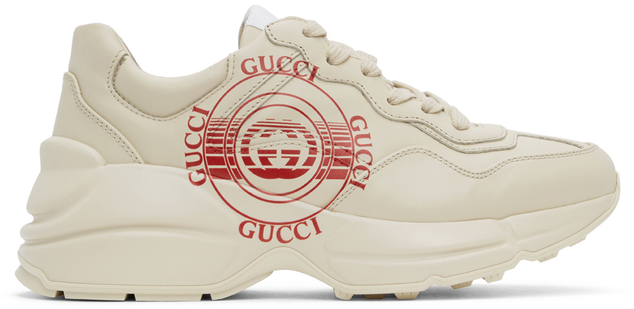 Gucci 灰白色 Rhyton 运动鞋