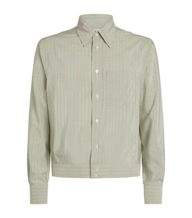 Lanvin Silk Striped Blouson Shirt