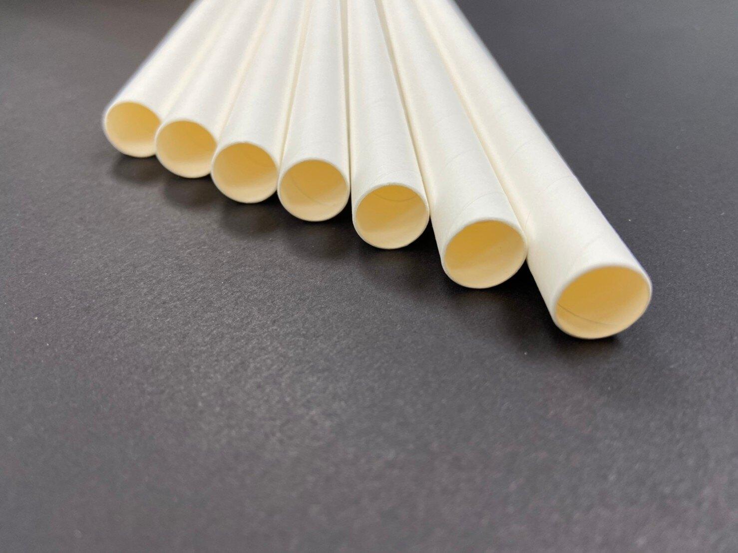 ☞克林CLEAN☜☞現貨☜ 環保白色紙吸管6mm/8mm/12mm平/斜口小包裝 環保 吸管紙 免洗餐具