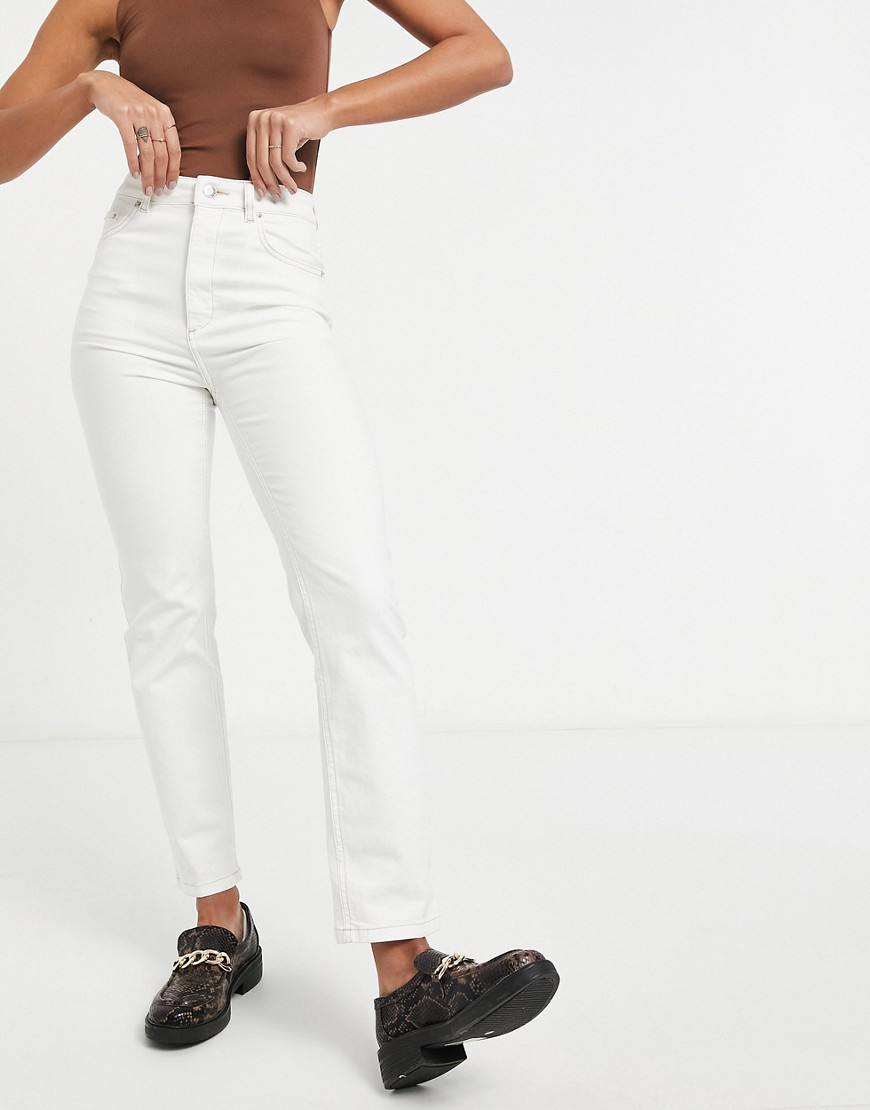 ASOS DESIGN high rise 'sassy' cigarette jeans in white