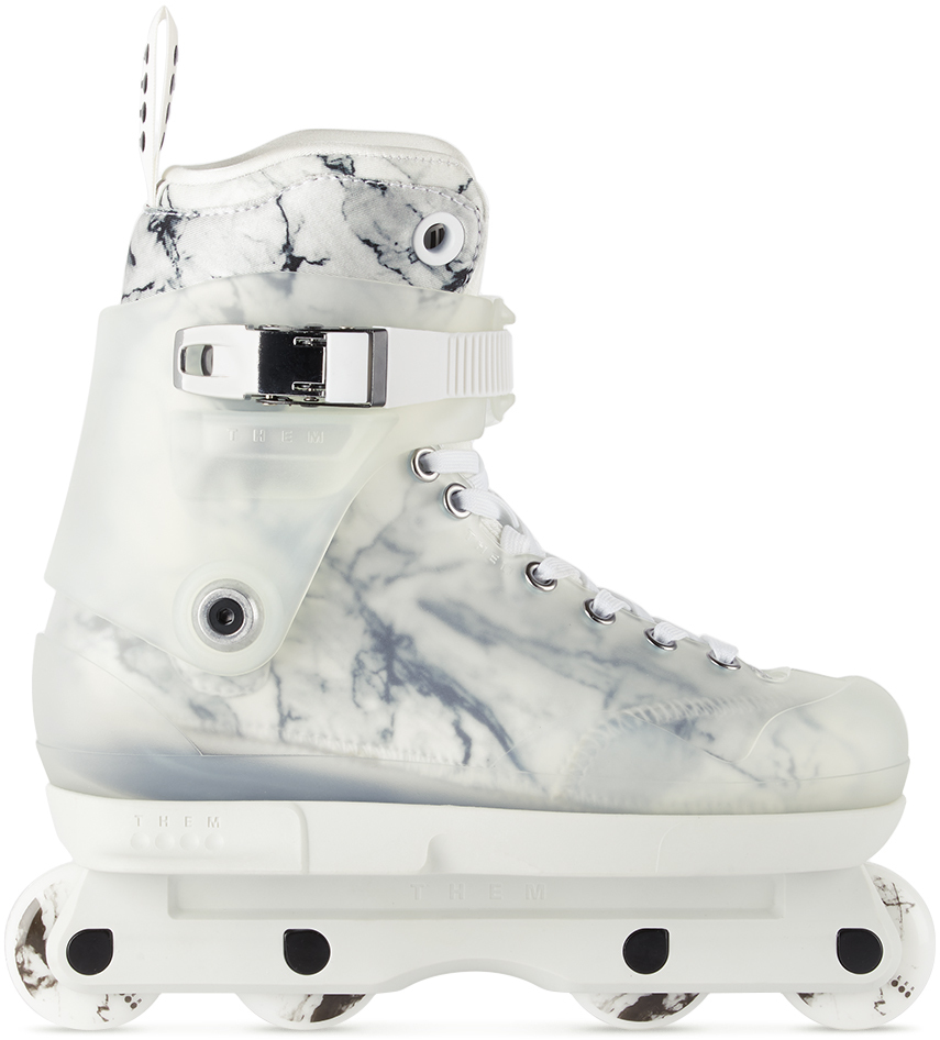 THEM SKATES 白色 Danny Beer 联名 909 Pro Model 直排轮滑鞋