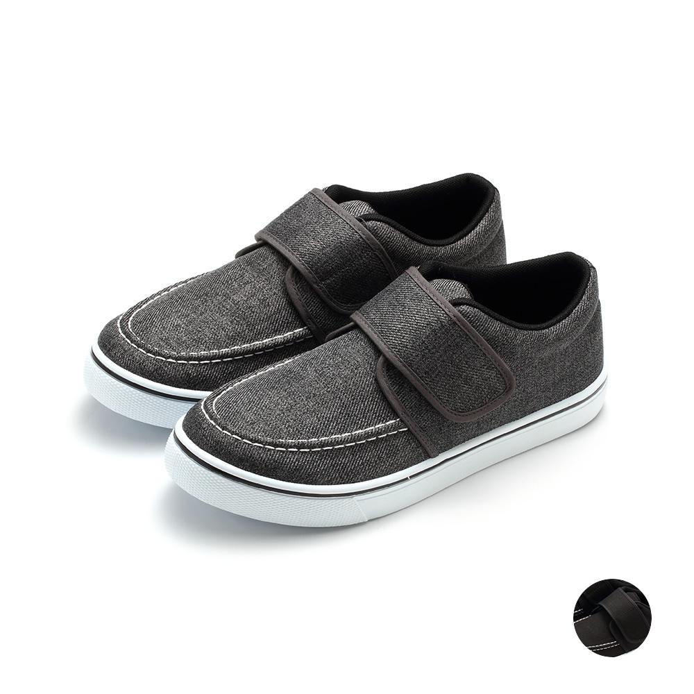 ARRIBA艾樂跑男鞋-魔鬼氈休閒鞋-灰/黑(FA548)