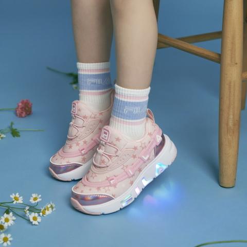 FILA KIDS GGUMI 中童電燈鞋-粉 2-C141V-154