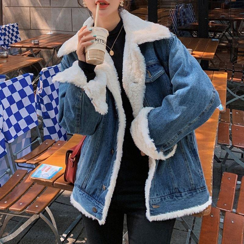 ★秋冬現貨★內鋪毛牛仔外套-eFashion【N15730010】