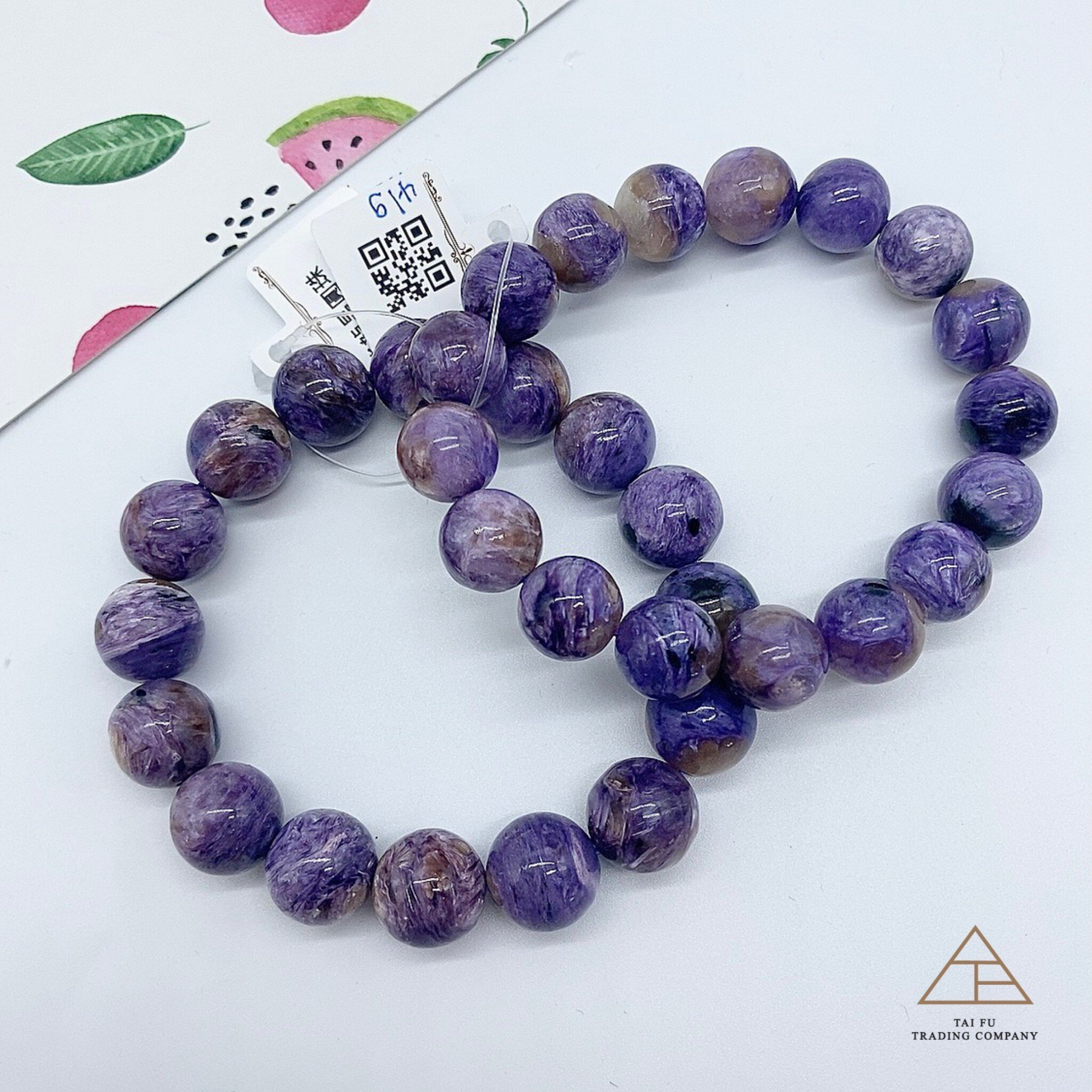 Tai Fu◆紫龍晶手珠|水晶|手鍊|紫龍晶|療癒|能量|天蠍|射手|雙魚|頂輪|天然水晶