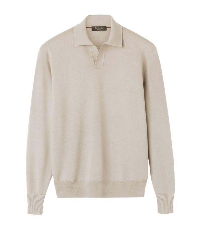 Loro Piana Merino Wool Buttonless Polo Shirt