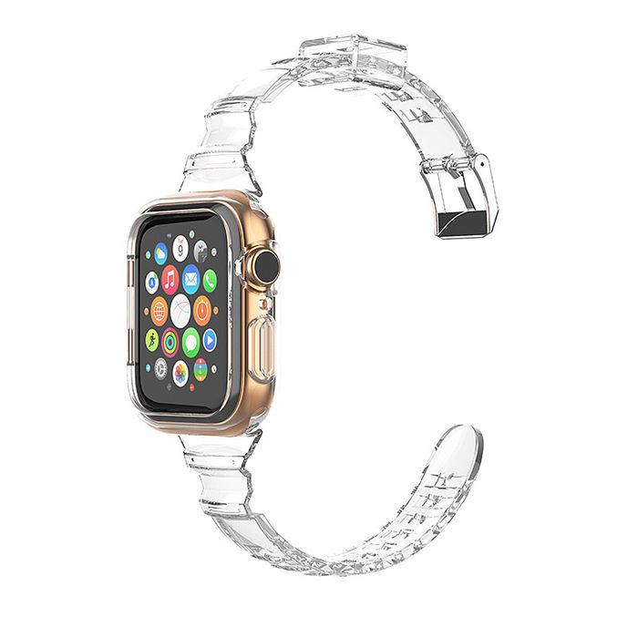 【SHOWHAN】Apple Watch 44/42mm 小蠻腰防摔透明運動錶帶