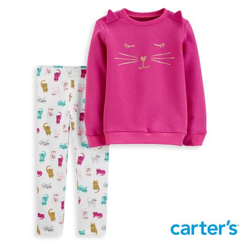 Carter's 台灣總代理 貓咪家族2件組套裝