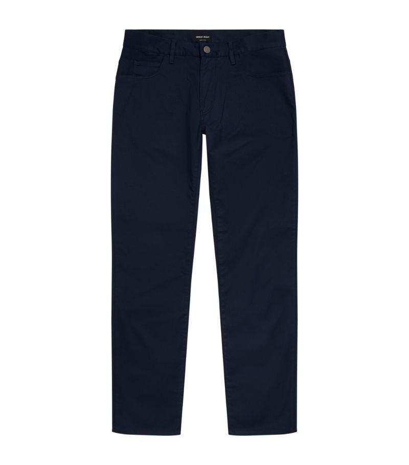 Giorgio Armani Stretch-Cotton Chino Trousers
