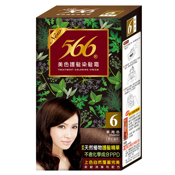 566染髮護髮霜6號栗褐色【康是美】