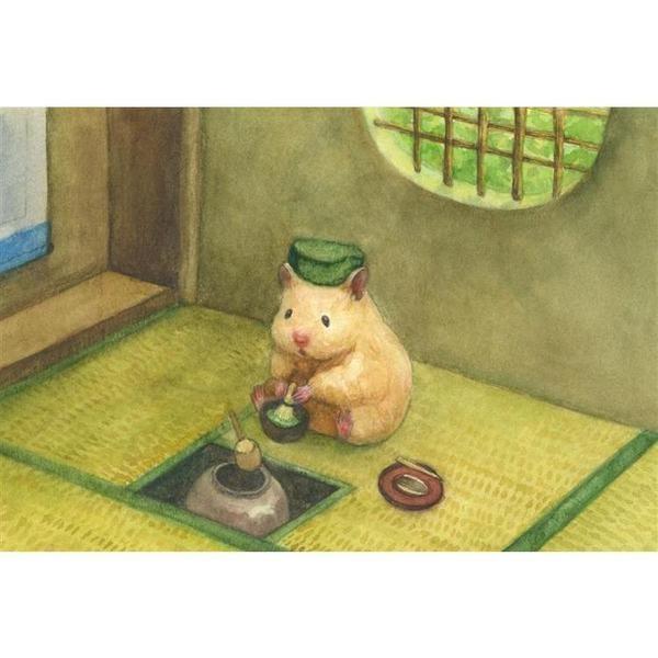 《助六の日常》明信片-茶道