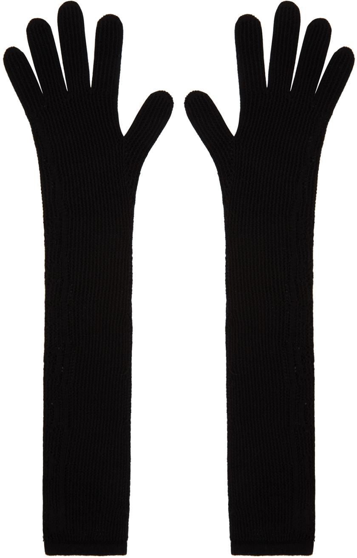 Gucci 黑色 GG 长款手套