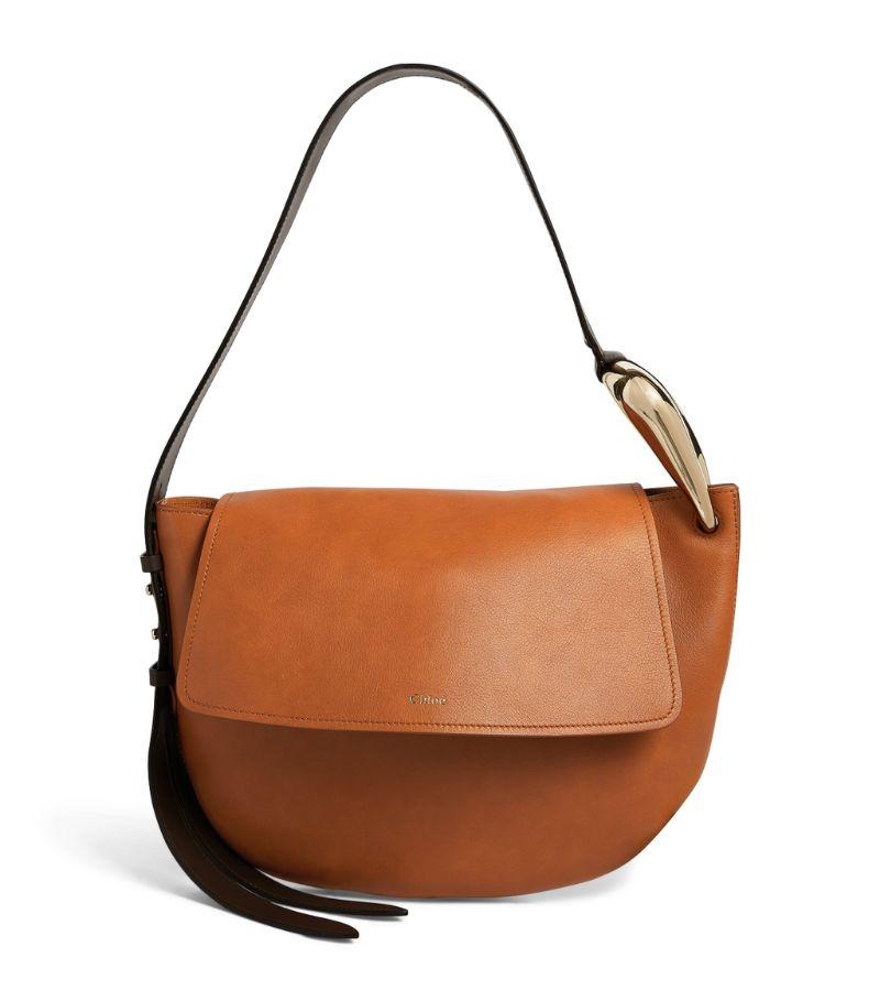 Chloé Leather Kiss Hobo Shoulder Bag