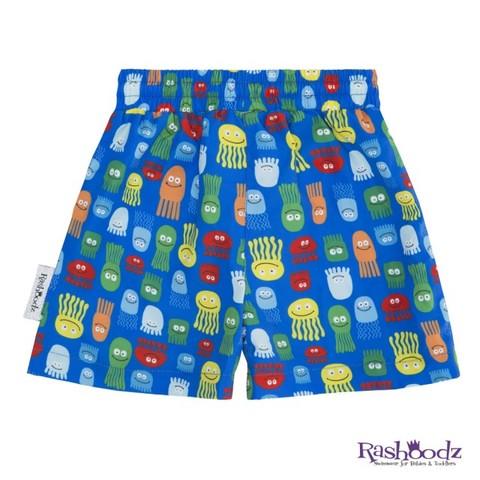 澳洲 RASHOODZ 兒童抗UV防曬泳褲-繽紛水母漂