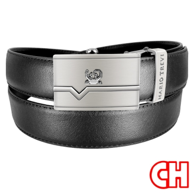 CH-BELT精選細緻皮紋自動扣休閒紳士皮帶腰帶(黑)