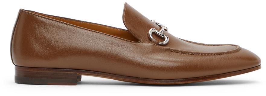 Gucci 黄褐色马衔扣乐福鞋