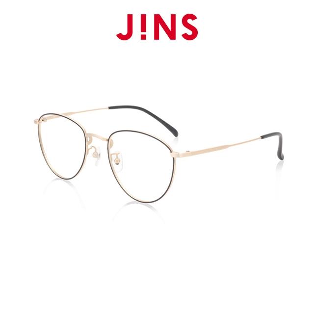 【JINS】 經典細金屬框時尚眼鏡(特ALMF19S276)黑金