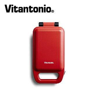 【Vitantonio】小小V厚燒熱壓三明治機(番茄紅)【三井3C】
