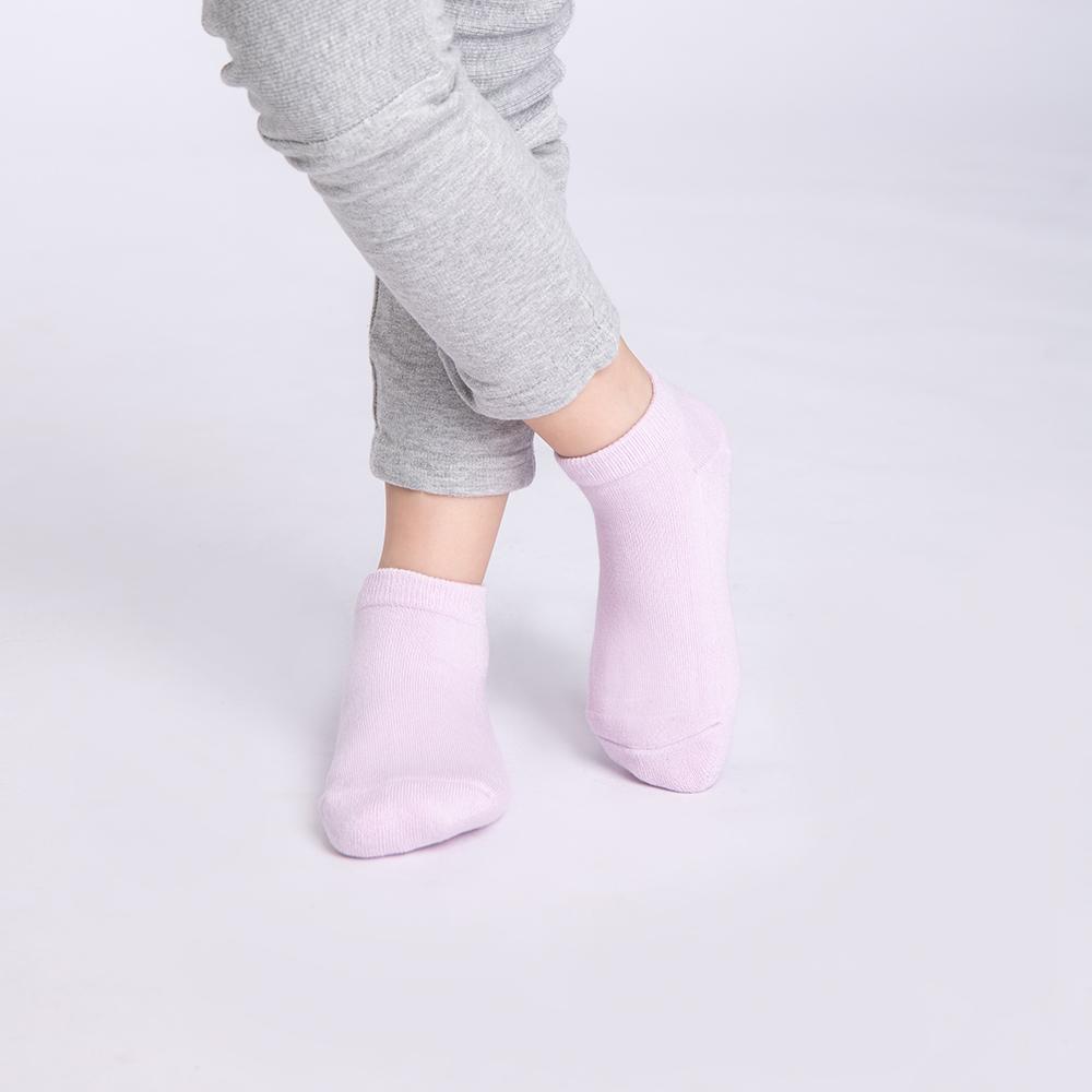 【JumpingColor】兒童玩色炫彩運動襪-粉紫 (S0602)