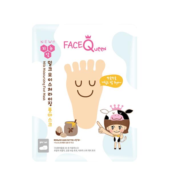 FaceQueen 蜂蜜牛奶滋潤護足膜*團購*10入【康是美】
