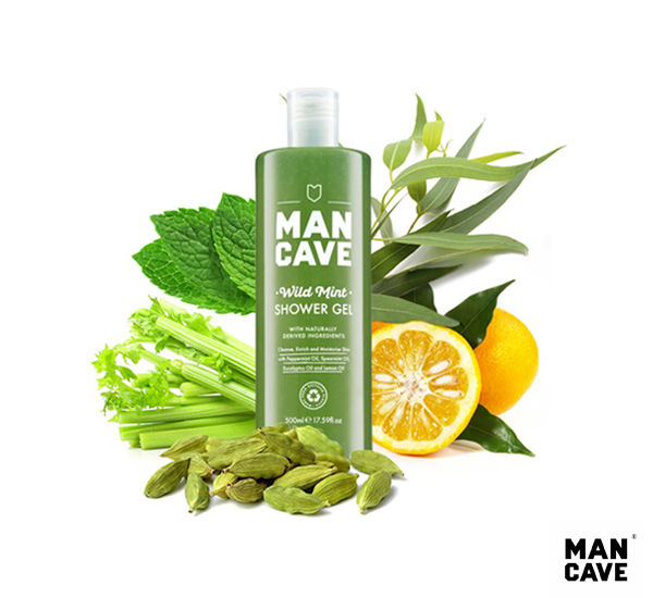 Man Cave Wild Mint Shower Gel 沁涼薄荷沐浴精(500ML)