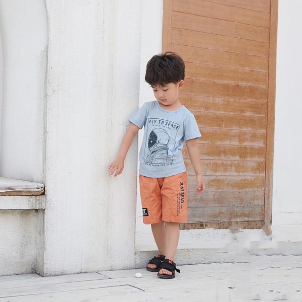 童趣太空人側照短T 春夏童裝 男童棉T 男童上衣 男童短袖 男童T恤