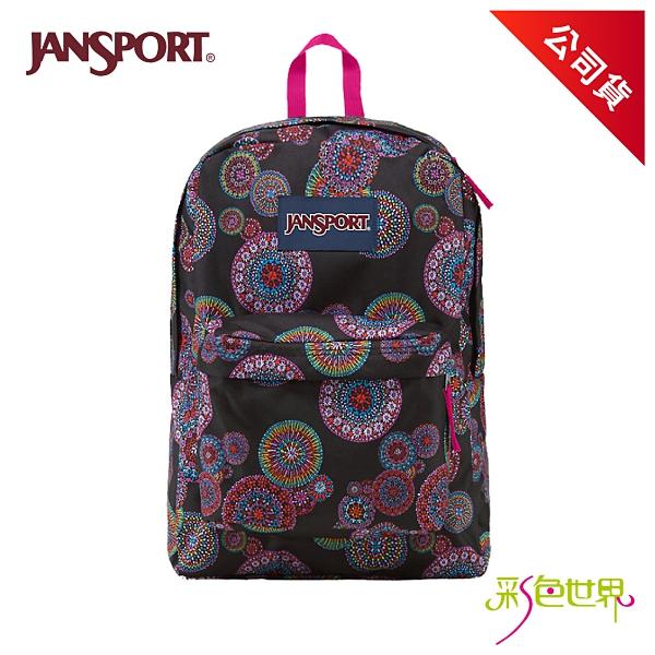 JANSPORT後背包校園書包 花火 JS-43501-0A0 彩色世界