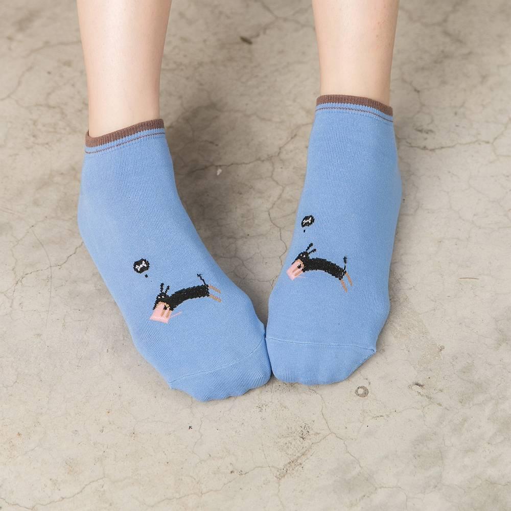 貝柔毛小孩萊卡船型襪-懶惰狗(1雙)