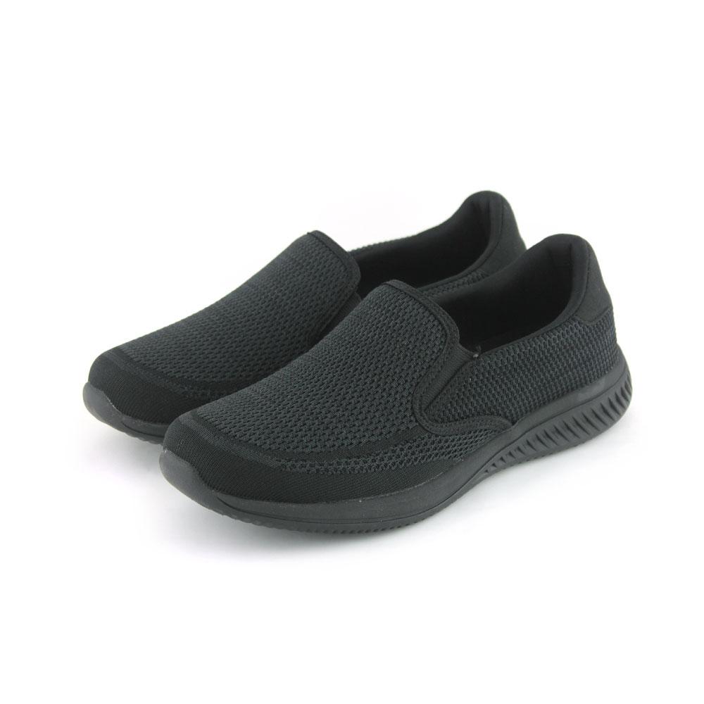 ARRIBA艾樂跑男鞋-針織輕量懶人鞋 便鞋-黑(FA536)