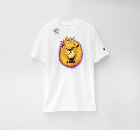NIKE Dri-FIT LeBron 籃球T-shirt-白(大童)(LBJ DRY TEE DFC)