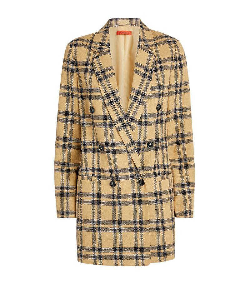 Max & Co. Linen-Cotton Check Blazer