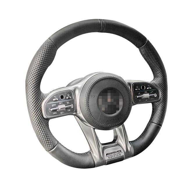 賓士19年後全車系 原車銀色按鈕專用 訂製方向盤Nappa 碳纖維 w205小改 w177 w118 w247 x157