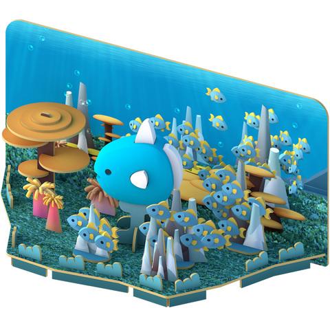 HALFTOYS哈福玩具 3D海洋樂園:MOLA 翻車魚STEAM教育玩具