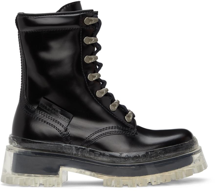 Marc Jacobs 黑色 The Lace Up 踝靴