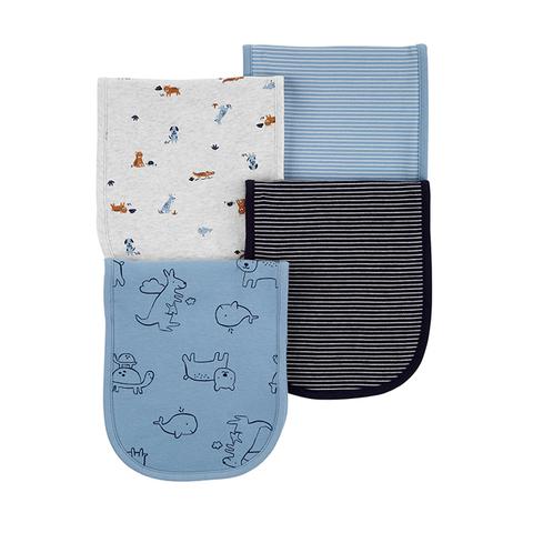 Carter's 台灣總代理 純柔動物插畫4件組口水巾(OSZ)