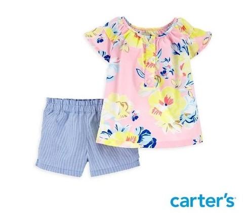 Carter's 台灣總代理 浪漫花園粉色2件組套裝