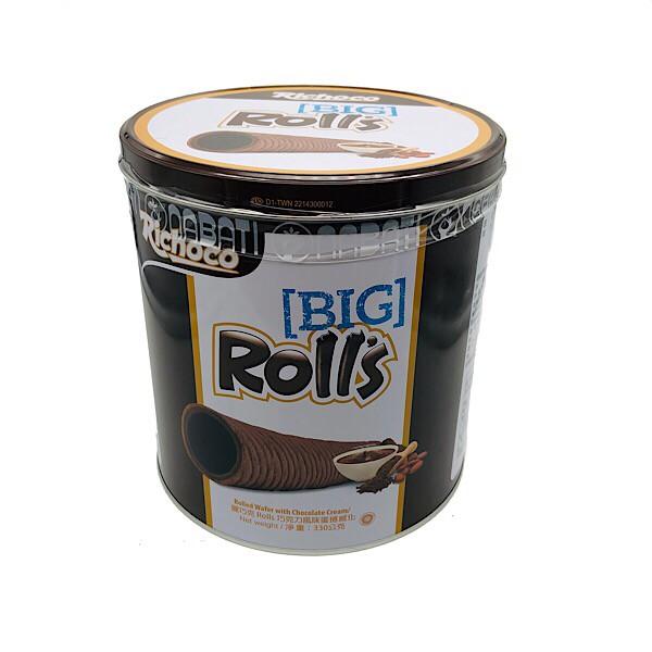 點數15%★食品飲料滿千–Richoco麗巧克 Rolls巧克力風味蛋捲威化(330g) 【康是美】