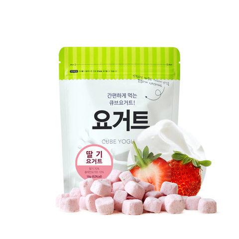 韓國米餅村 SSALGWAJA 乳酸菌優格球-草莓